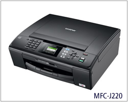 Máy in Brother MFC-J220, In, Scan, Copy, Fax, In phun màu, Lắp hệ thống mực in liên tục