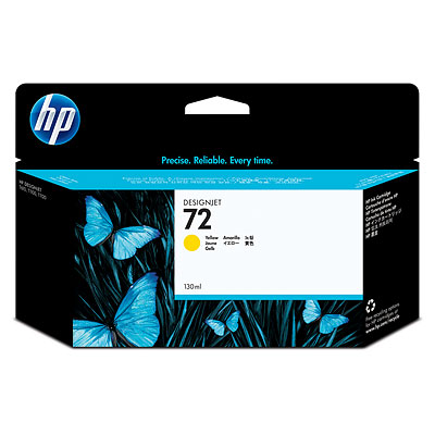 HP 72 130 ml Yellow Ink Cartridge C9373A