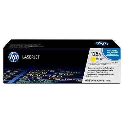 Mực in laser màu HP 125A Yellow LaserJet Toner Cartridge CB542A