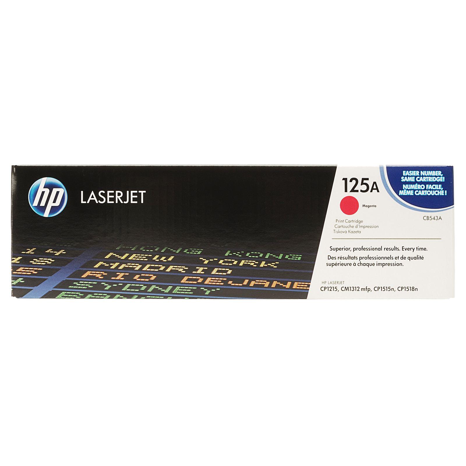 Mực in Laser màu HP 125A Magenta LaserJet Toner Cartridge CB543A