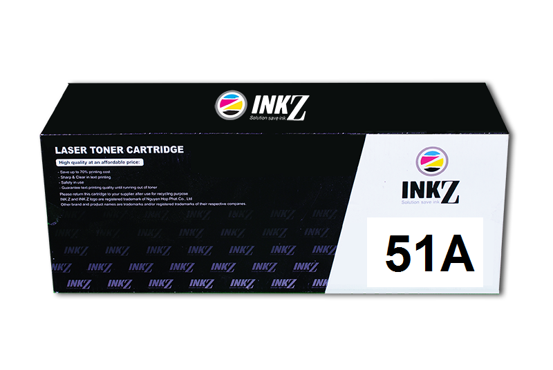 Mực INKZ 51A, Black LaserJet Toner Cartridge