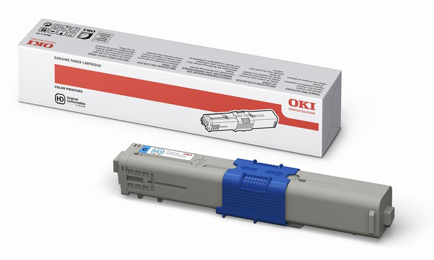 Mực in Oki C310 Cyan Toner Cartridge (44469757)