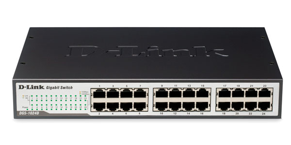 Switch D-Link 24-port Gigabit  DGS-1024D